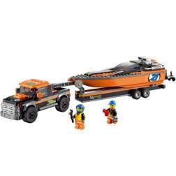 LEGO 4x4 cu barca motorizata - LEGO 60085 (City)