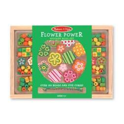 Set margele din lemn Flower Power Melissa and Doug