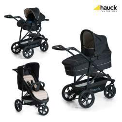 Carucior 3 in 1 Hauck Rapid 3 Plus Trio Set - Caviar/Beige