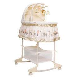 Leagan cu landou 3 in 1 Moni Bassinet Nap Beige