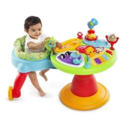 Bright Starts - 60368 Centru de activitati 3 - in - 1 Around We Go Zippity Zoo