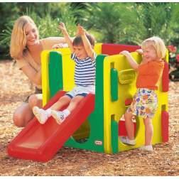 Loc de joaca de exterior Little Tikes - Junior Activity Gym Natural