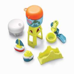 Masuta de joaca pentru exterior Little Tikess - Nisip si apa cu umbreluta