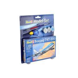 Aeromacheta Revell - Model Set Avion Boeing 747-200, scara 1:450