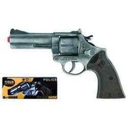 Revolver de jucarie Gonher Politie Old Silver - 127/1