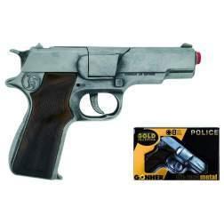 Pistol de jucarie Gonher politie Old Silver - GH125/1