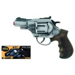 Revolver de jucarie Gonher Politie Old Silver - 38/1