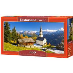 Puzzle Castorland Panoramic - Church Marterle, 600 Piese