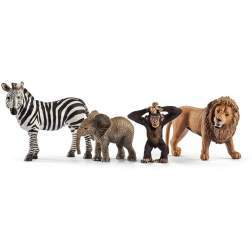 Set figurine Schleich - Animale salbatice - Set de incepatori - SL42387