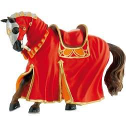 Figurina Bullyland - Cal pentru turnir, rosu