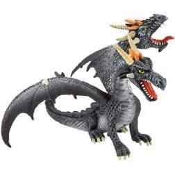 Figurina Bullyland - Dragon negru cu 2 capete