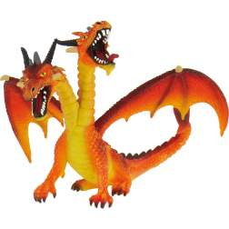 Figurina Bullyland - Dragon orange cu 2 capete