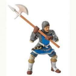 Figurina Bullyland - Cavaler cu topor si armura, albastru