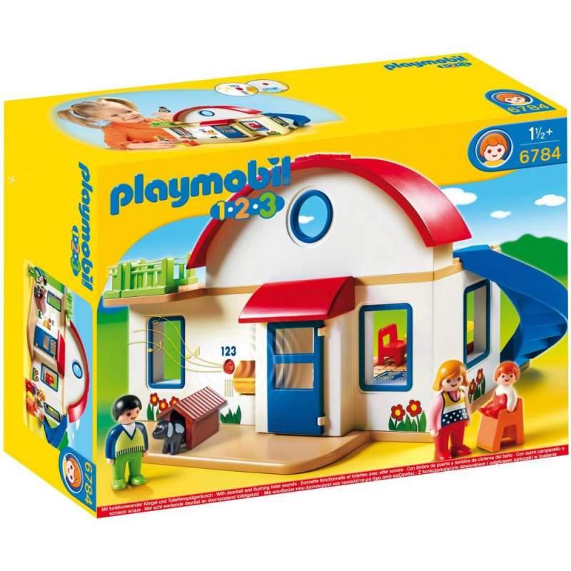 Playmobil 1.2.3 Casa Din Suburbie (6784)