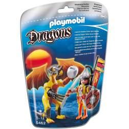 Playmobil Dragonul Pietrei Cu Luptator (5462)