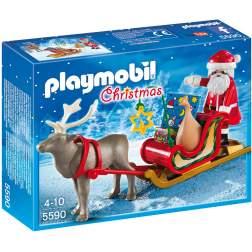 Playmobil - Sania Lui Mos Craciun Cu Ren (5590)