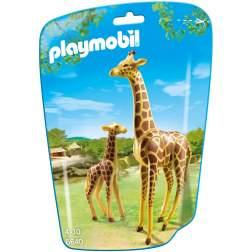 Playmobil - Girafa Cu Pui (6640)