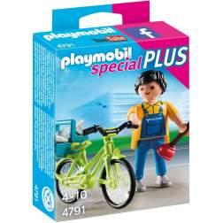 Playmobil - Instalatorul Cu Bicicleta (4791)
