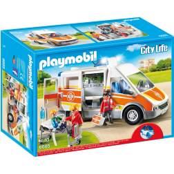 Playmobil - Ambulanta Cu Lumini Si Sunete (6685)