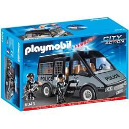 Playmobil - Duba Politiei Cu Lumini Si Sunete(PM6043)
