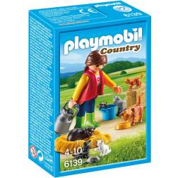 Playmobil - Femeie Cu Familie De Pisici (6139)