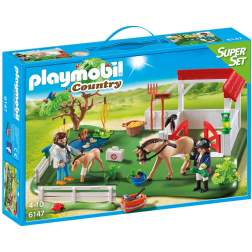 Playmobil - Super Set - Grajd Cu Cai (6147)
