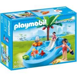 Playmobil - Piscina Pentru Copii Cu Tobogan (6673)
