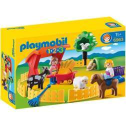 Joc Playmobil - 1.2.3 Animale la Zoo (6963)