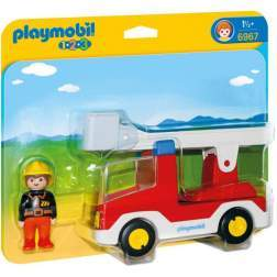 Joc Playmobil - 1.2.3 Camion cu Pompier (6967)
