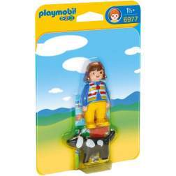 Joc Playmobil - 1.2.3 Femeie cu Catelus (6977)