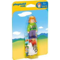 Joc Playmobil - 1.2.3 Femeie cu Pisicuta (6975)