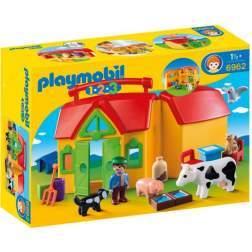 Joc Playmobil - 1.2.3 Set Mobil Ferma (6962)