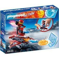 Joc Playmobil - Firebot si Lansator de Discuri (6835)