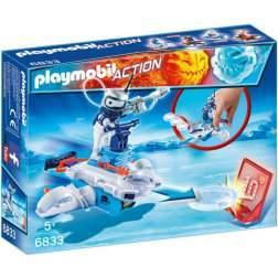 Joc Playmobil - Icebot si Lansator de Discuri (6833)