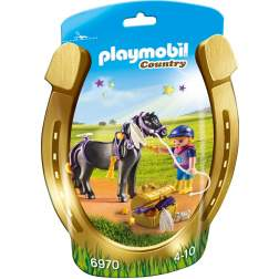 Joc Playmobil - Ingrijitor si Ponei cu Stelute (6970)