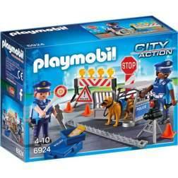 Joc Playmobil Police - Blocaj Rutier al Politiei 6924