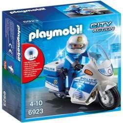 Joc Playmobil Police - Motocicleta Politiei cu Led 6923