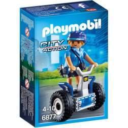 Joc Playmobil Police - Politista cu Masina de Echilibru 6877