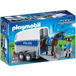 Joc Playmobil Police - Remorca cu Cal 6922