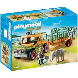 Joc Playmobil Safari - Camion Forestier si Elefant 6937