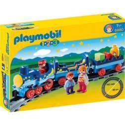 Set Playmobil 1.2.3 - Tren Cu Sina 6880
