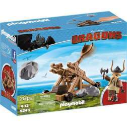 Set Playmobil Dragons - Gobber Cu Catapulta 9245