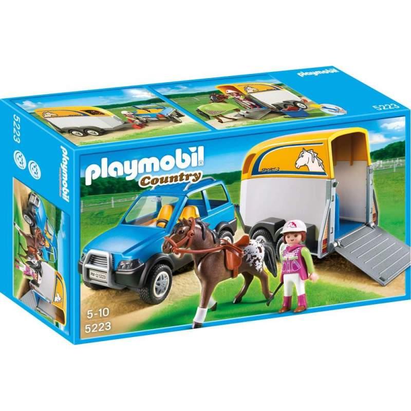 Playmobil Masina Cu Remorca Pentru Cal (5223)