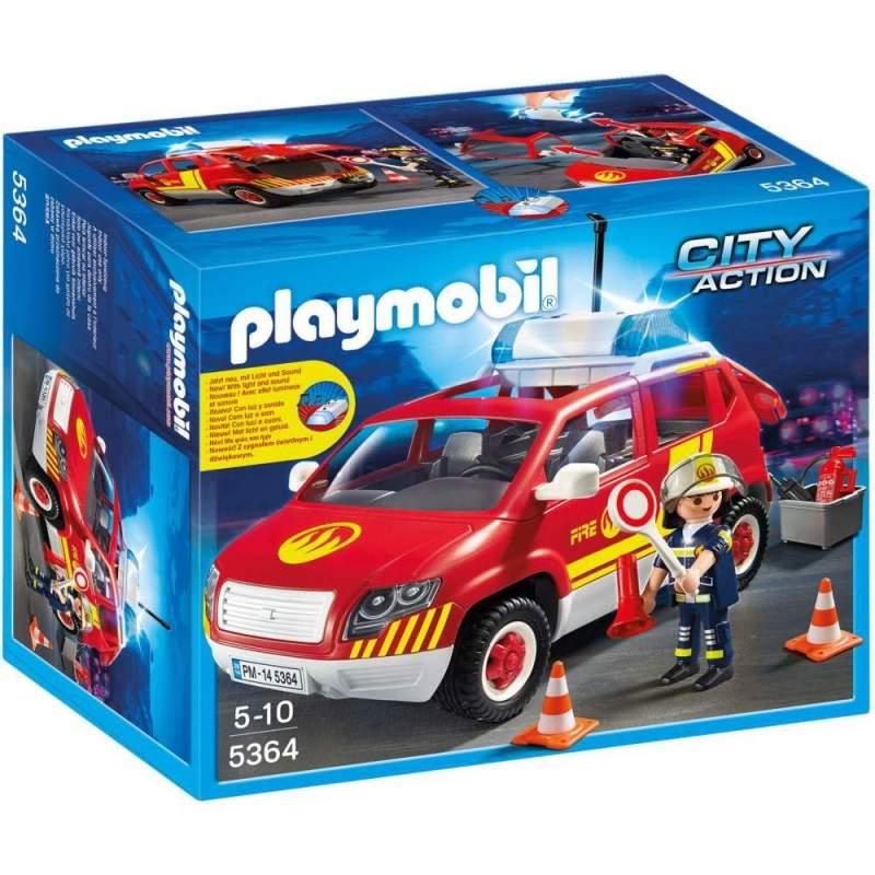 Playmobil Masina Sef Pompier Cu Lumini Si Sunete (5364)