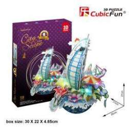 Puzzle 3D Cu Led Cubicfun - New York