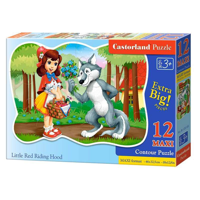 Puzzle Castorland - Little Red Riding Hood, 12 piese MAXI