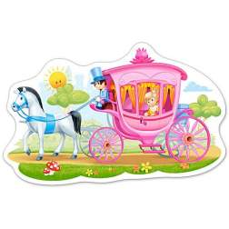 Puzzle Castorland - Princess in a Carriage, 15 piese