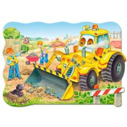 Puzzle Castorland - Buldozer in action, 20 piese MAXI
