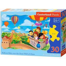 Puzzle Castorland - Baloon Ride over the GReat Wall of China, 30 piese