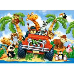 Puzzle Castorland - Softies on Safari, 40 piese MAXI